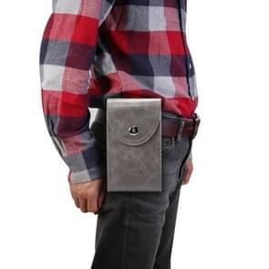 Single Case Multi-functionele Universal Mobile Phone Waist Bag Voor 6 5 inch of onder smartphones (Donkergrijs)