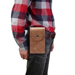 Double Case Multi-functionele Universal Mobile Phone Waist Bag Voor 6 5 inch of onder smartphones (koffie)