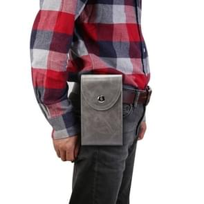 Double Case Multi-functionele Universal Mobile Phone Waist Bag Voor 6 5 inch of onder smartphones (Donkergrijs)