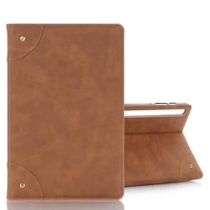 For Galaxy Tab S6 T860 / T865 Retro Book Style Horizontal Flip Leather Case with Holder & Card Slots & Wallet (Brown)