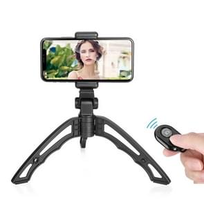 APEXEL Portable Handheld Lazy Live Broadcast Desktop Folding Universal Bluetooth Tripod Phone Holder