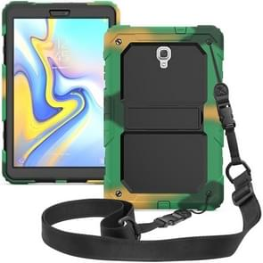Shockproof PC + Silica Gel Protective Case for Galaxy Tab A 10.5 T590, with Holder & Shoulder Strap (Camouflage)