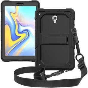 Schokbestendige PC + silicagel beschermhoes voor Galaxy tab A 10 5 T590  met houder & schouderriem (zwart)