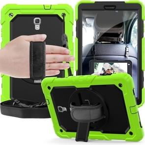 Shockproof Colorful Silica Gel + PC Protective Case for Galaxy Tab A 10.5 T590, with Holder & Shoulder Strap & Hand Strap & Pen Slot (Green)