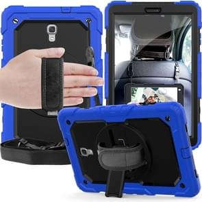Shockproof Colorful Silica Gel + PC Protective Case for Galaxy Tab A 10.5 T590, with Holder & Shoulder Strap & Hand Strap & Pen Slot (Blue)