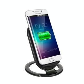 N900 universele 2-spoelen snel Wireless staan lader  voor iPhone 8 / 8 Plus / X & Galaxy S7 Edge / S7 / S6 / S6 edge / S6 edge +(Black)