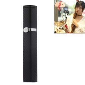 CYKE S3 Hidden One-piece Lipstick Shape Wired Control Selfie Stick with Rear Mirror(Black)