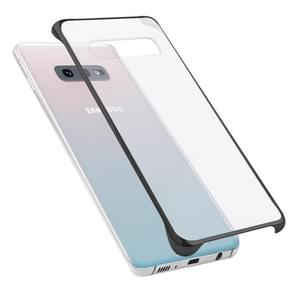 Ultra-thin Transparent Plating PC Protestive Back Case for Galaxy S10e (Black)