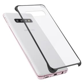 Ultra-thin Transparent Plating PC Protestive Back Case for Galaxy S10+ (Black)