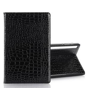 Voor Galaxy tab S6 T860/T865 krokodil textuur horizontale Flip lederen draagtas met houder & kaartsleuven & portemonnee (zwart)