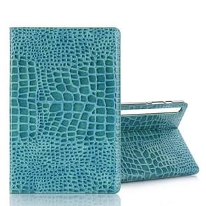 For Galaxy Tab S6 T860 / T865 Crocodile Texture Horizontal Flip Leather Case with Holder & Card Slots & Wallet (Blue)