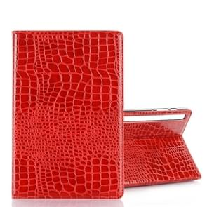 For Galaxy Tab S6 T860 / T865 Crocodile Texture Horizontal Flip Leather Case with Holder & Card Slots & Wallet (Red)