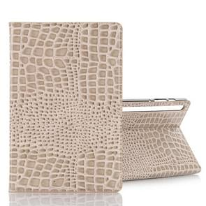 For Galaxy Tab S6 T860 / T865 Crocodile Texture Horizontal Flip Leather Case with Holder & Card Slots & Wallet (White)