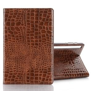 For Galaxy Tab S6 T860 / T865 Crocodile Texture Horizontal Flip Leather Case with Holder & Card Slots & Wallet (Brown)