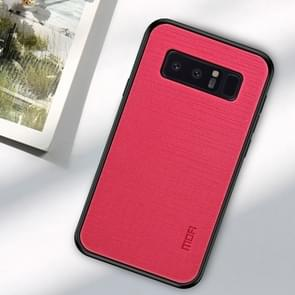 De schokbestendige TPU MOFI + PC + doek Case voor Galaxy Note 8 (Rose-rood)