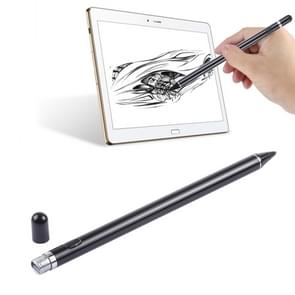 Long Universal Rechargeable Capacitive Touch Screen Stylus Pen with 2.3mm Superfine Metal Nib, For iPhone, iPad, Samsung, and Other Capacitive Touch Screen Smartphones or Tablet PC(Black)