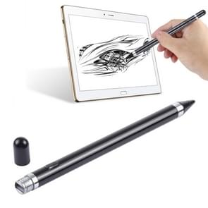 Short Universal Rechargeable Capacitive Touch Screen Stylus Pen with 2.3mm Superfine Metal Nib, For iPhone, iPad, Samsung, and Other Capacitive Touch Screen Smartphones or Tablet PC(Black)