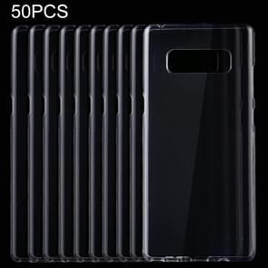 50 stuks voor Galaxy Opmerking 8 TPU transparante beschermhoes