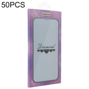 50 PCS Paper Outer + Plastic Inner Packaging Box for Tempered Glass Screen Protector