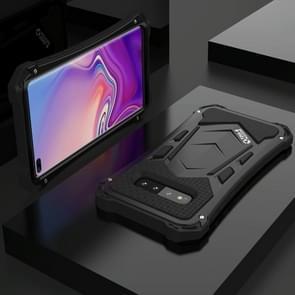 Schokbestendige stofdicht metalen Armor beschermhoes voor Galaxy S10 plus (zwart)