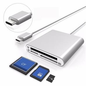 3 in 1 Multi-function type-C/USB-C kaartlezer  ondersteuning micro SD/TF/CF