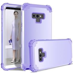 Schokbestendig 3 in 1 geen kloof in het midden silicone + PC Case voor Galaxy Note9 (licht paars)