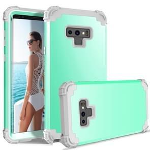 Schokbestendig 3 in 1 geen gap in de middelste silicone + PC Case voor Galaxy Note9 (mintgroen)
