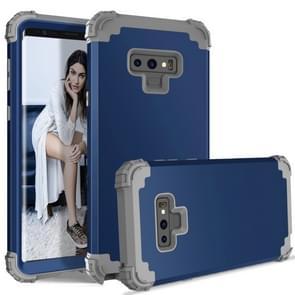 Schokbestendig 3 in 1 geen gap in de middelste silicone + PC Case voor Galaxy Note9 (marineblauw)