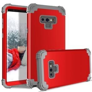 Schokbestendig 3 in 1 geen gat in de middelste silicone + PC Case voor Galaxy Note9 (rood)