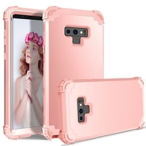 Schokbestendig 3 in 1 geen kloof in het midden silicone + PC Case voor Galaxy Note9 (Rose goud)
