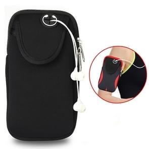 Multi-functional Sports Armband Waterproof Phone Bag for 5 Inch Screen Phone, Size: M(Black)