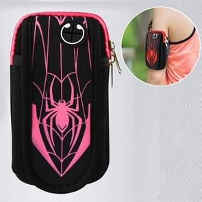 Multi-functional Sports Armband Waterproof Phone Bag for Under 6 Inch Screen Phone, Size: 19x11cm(Pink)