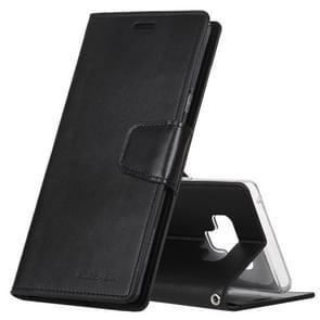 MERCURY GOOSPERY SONATA dagboek horizontale Flip lederen Case voor Galaxy Note9  met houder & kaartsleuven & Wallet(Black)
