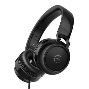 C60 Head-Mounted opvouwbare telescopische bekabelde 4D Surround Subwoofer Headset HIFI Stereo Audio opvouwbare oortelefoon koptelefoon met microfoon (zwart)