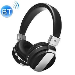 2 in1 Bluetooth draadloze hoofdtelefoon + MP3-functie Stereo Heavy Bass Draadloze Gaming Music Headset Oortelefoon (Zwart)