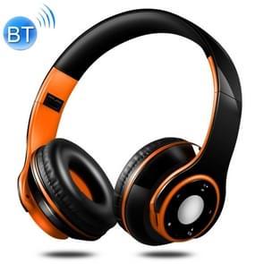 SG-8 Bluetooth 4.0 + EDR hoofdtelefoon Wireless oor overdreven TF kaart Radio van de FM Stereo muziek Headset met microfoon (oranje)