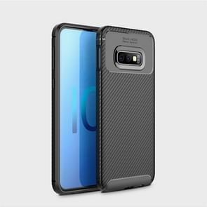 Carbon Fiber Texture Shockproof TPU Case for Galaxy S10 Lite (Black)