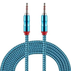 2m 3.5mm Jack Male to Male Nylon Weave AUX Cable (Blue)