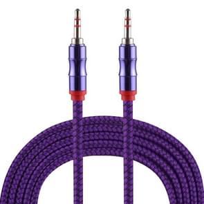 2m 3.5mm Jack Male to Male Nylon Weave AUX Cable (Purple)
