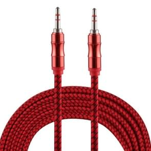 2m 3.5mm Jack Male to Male Nylon Weave AUX Cable (Red)