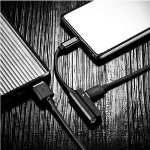 ROCK 0 12 m metalen Type-C Female + 3 5 mm Jack Female naar Type-C Male luisteren & Audio 2 in 1 laadkabel  voor Galaxy  Huawei  Xiaomi  LG  HTC en andere slimme Phones(Black)