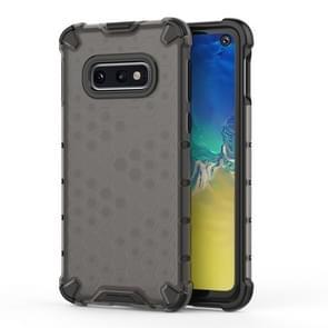 Schokbestendige honingraat PC + TPU Case voor Galaxy S10e (zwart)