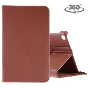 Litchi Texture Horizontal Flip 360 Degrees Rotation Leather Case for Galaxy Tab A 8 (2019) / P200 / P205, with Holder (Brown)