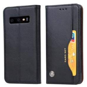 Kneed huid textuur horizontale Flip lederen case voor Galaxy S10e  met fotolijst & houder & card slots & portemonnee (zwart)