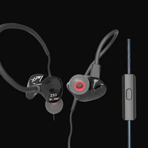 KZ ZS3 1.2m 3.5mm Hanging Ear Sports Design In-Ear Style Wire Control Earphone, For iPhone, iPad, Galaxy, Huawei, Xiaomi, LG, HTC and Other Smart Mobile Phones(Black)
