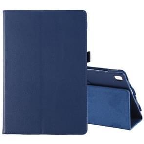 Litchi textuur horizontale Flip lederen case voor Galaxy tab S5e 10 5 T720/T725  met houder (donkerblauw)