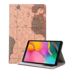 Kaart textuur horizontale Flip lederen case voor Galaxy tab een 10 1 (2019) T510/T515  met houder & card slots & portemonnee  Random textuur levering