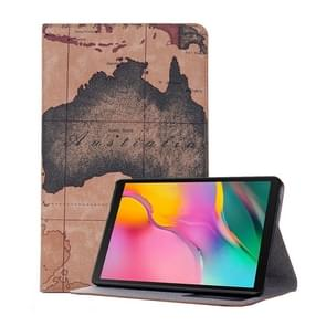 Kaart textuur horizontale Flip lederen case voor Galaxy tab een 8 (2019) P200/P205  met houder & card slots & portemonnee  Random textuur levering