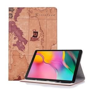 Kaart textuur horizontale Flip lederen case voor Galaxy tab S5e 10 5 T720/T725  met houder & card slots & portemonnee  Random textuur levering