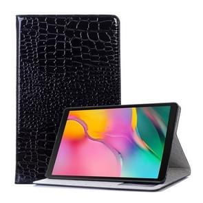 Krokodil textuur horizontale Flip lederen case voor Galaxy tab een 10 1 (2019) T510/T515  met houder & card slots & portemonnee (zwart)